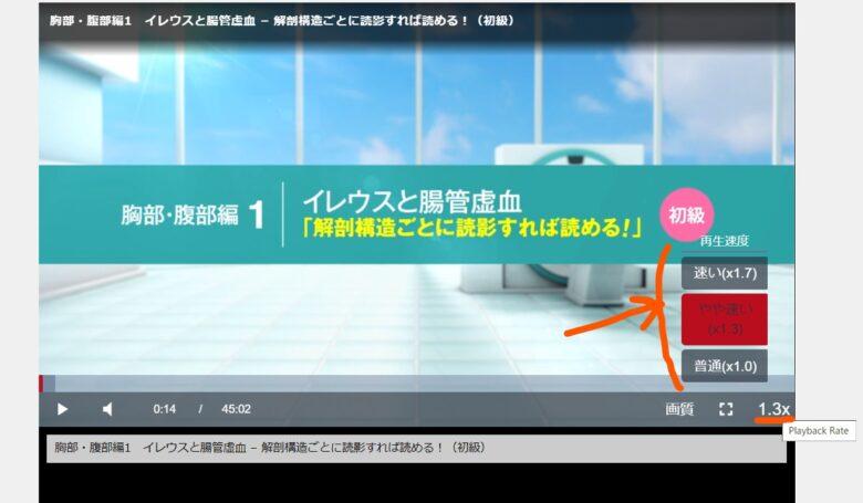 ケアネットTV 視聴速度